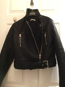 Faux Leather Jacket from Abercrombie Size Small