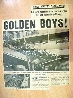 1966 World Cup Press Cutting- GOLDEN BOYS.................................
