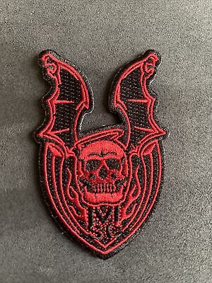 Strider Knives Patch Mick Strider Custom Winged Skull Red/Black
