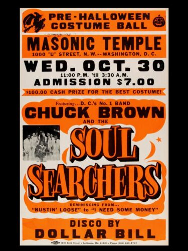 """CHUCK BROWN AND SOUL SEARCHERS 16"""" x 12"""" Reproduction Promo Poster"""