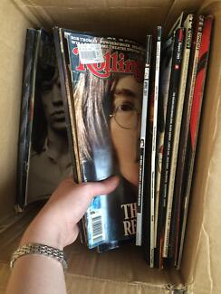 music Magazines and Rock and roll CDs Bulk selling fast