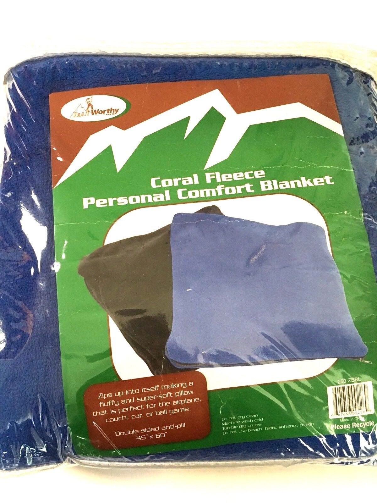Blanket Fleece Personal Comfort Blue by Trail Worthy Coral f
