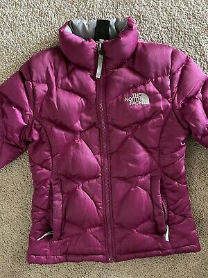 THE NORTH FACE GOOSE DOWN 550 PUFFER WINTER COAT Purple GIRLS SIZE 10-12