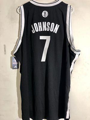 Adidas Swingman NBA Jersey Brooklyn Nets Joe Johnson Black sz (Black Swingman Adidas Nba Jersey)