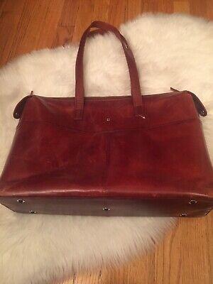bosca briefcase Caramel Color Leather Shoulder Bag Doctor Lawyer Business Bosca Leather Shoulder Bag