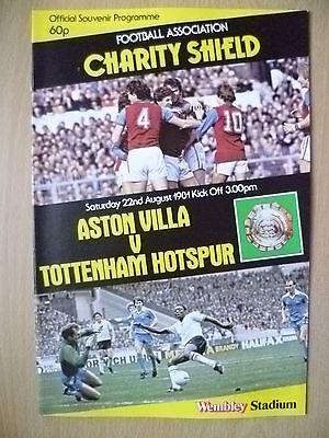 1981 FA CHARITY SHIELD- ASTON VILLA v TOTTENHAM HOTSPUR