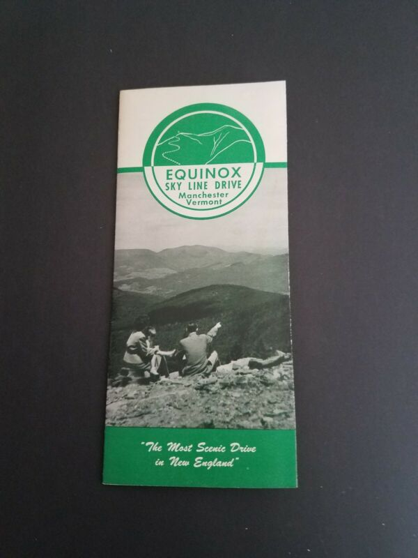 Manchester Vermont Equinox Drive Brochure 1953 - Illustrated - VT