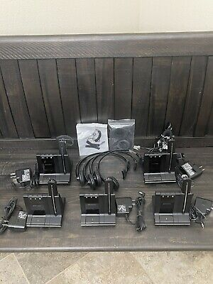 Lot of 5 Plantronics Savi W740 Headsets! Excellent Condition. Ready to Use!