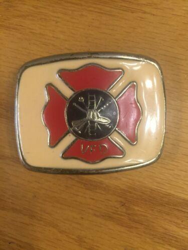 """Volunteer Fire Dept. Belt Buckle 2 1/2"""" X 2"""""""