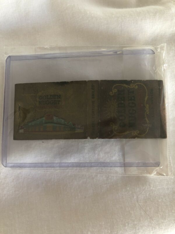 Vintage Las Vegas Matchbook Golden Nugget Unstruck Display Feature