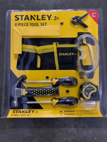 Stanley Jr. 8 Piece Real Tool Set for Kids 5+ Hammer Screwdr