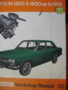 DATSUN 1300 / 1600 WORKSHOP SERVICE MANUAL c1970 Dianella Stirling Area Preview