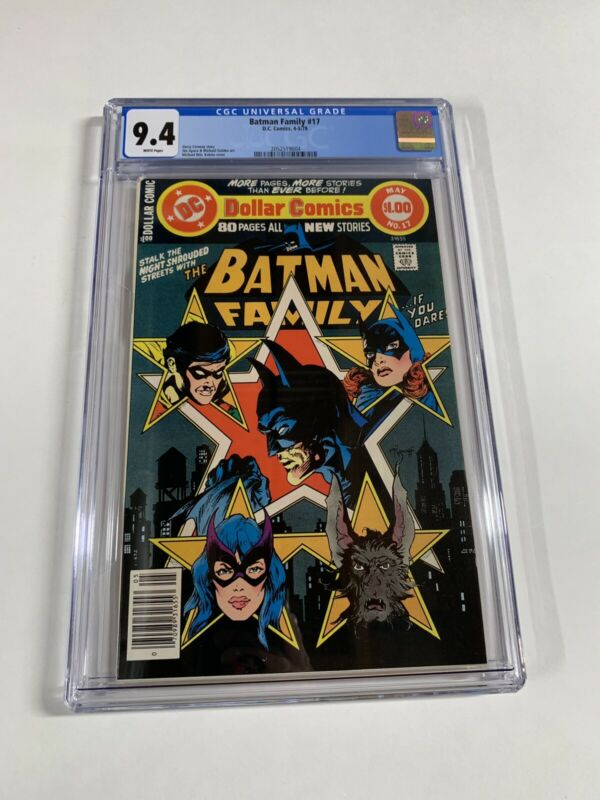 Batman Family 17 Cgc 9.4 White Pages Dc Comics 2052519004