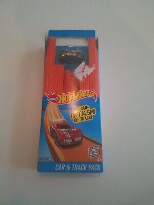 Mattel Hot Wheels 15 Ft Track Builder Straight Track with Car NIB DMG BOX {UD1}