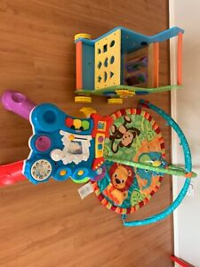 Baby toys, activity centre and walker