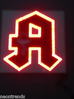A Äskulap LED Apotheke Tafel Leuchtreklame Werbung Panel Reklame Aufsteller sign
