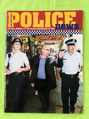 New South Wales Police News: PANSW Magazine. January 2002: Vol. 82. No 1. VGC.