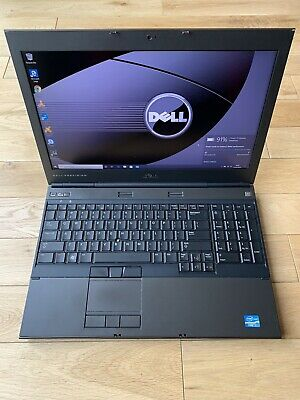 "Dell Precision M4600 Fast i7 2820QM 750GB HDD 16GB FHD Nvidia 15.6"" Win10 Laptop"