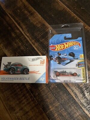 Hot Wheels ID Series 2 Volkswagen Beetle Gulf & Super Treasure Hunt Indy Gulf