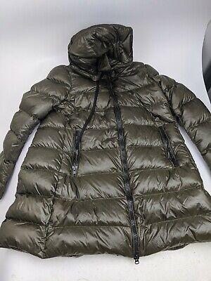 Ermanno Scervino Women Sz 38 Green Hooded Down Jacket Parka