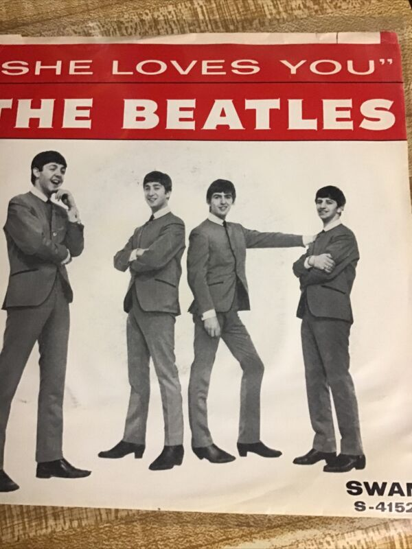 """Beatles RARE 1964 US """" SHE LOVES YOU  SWAN """" easily excellent"""