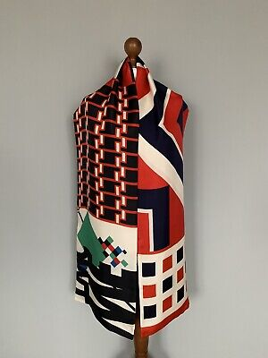 Pierre-Louis Mascia pure Silk scarf wrap 100% authentic original 200x35cm
