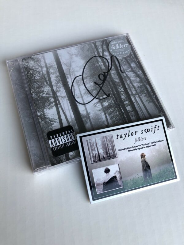 Taylor Swift SIGNED Folklore CD + Custom Metal Plaque - Brand New