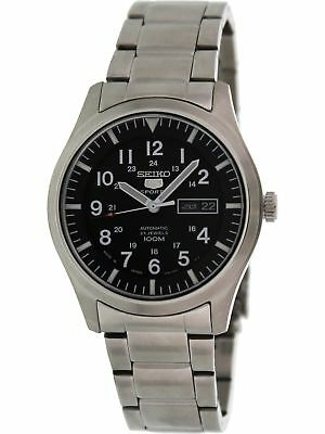 Seiko Men's 5 Automatic SNZG13K Black Stainless-Steel Self Wind Fashion Watch