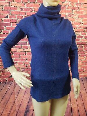 Zara  Knit Royal Blue Turtleneck Tunic Sweater Long Sleeve Size S