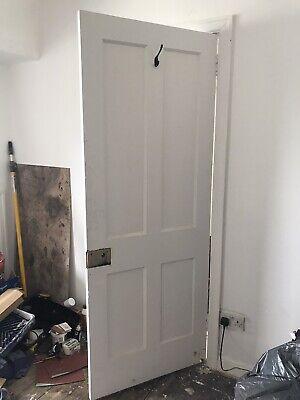 1930's Original Solid Wooden Door, 194cm X 75cm