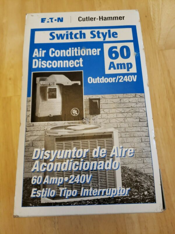 Cutler-Hammer Non-Fusible Pullout 60 Amp Air Conditioner Disconnect ~ NEW