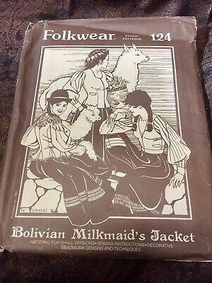Adult Milkmaid (Folkwear Ethnic Pattern #124, Bolivian Milkmaid's Jacket Vintage 1980, sz.)