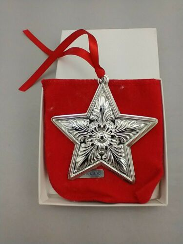 1996 Lunt Star Sterling Silver Christmas Ornament New, Unused, w/Box and Bag