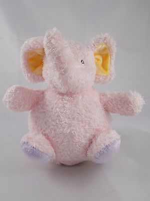Baby Gund Jungle Collection Pink Elephant Chime Ball Plush 7.5