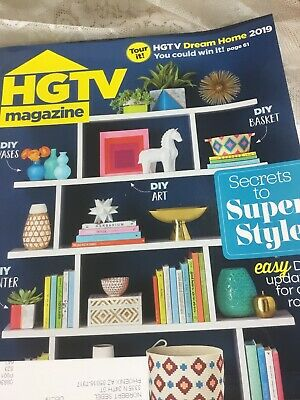 NEW JAN./FEB. 2019 HGTV MAGAZINE WITH DIY SUPER STYLE-EXCELLENT CONDITION