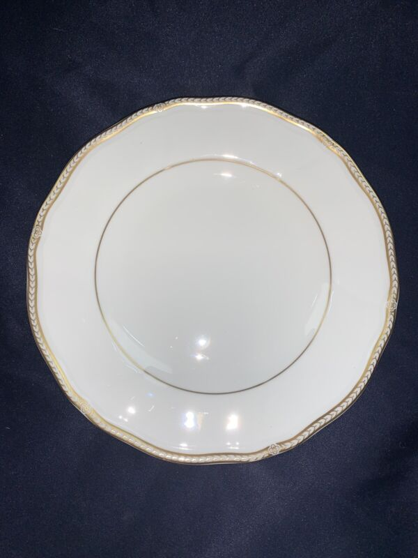 """WEDGWOOD England china CROWN GOLD pattern Salad Plate - 8"""""""