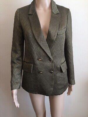 Golden Khaki (Golden Goose Khaki Green Blazer Jacket Size M 10)