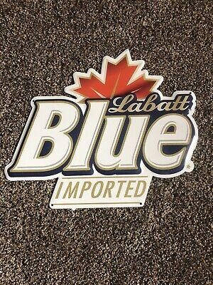 Labatts Blue Beer Maple Leaf Tin Sign Game Room Man Cave Bar Pub Canada NEW