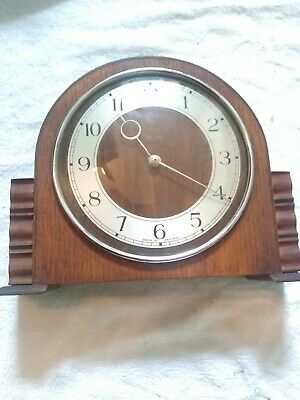 11 SMALL SMITHS MANTLE CLOCK FULLY WOUND?? NOT WORKING SPARES 22*18*6