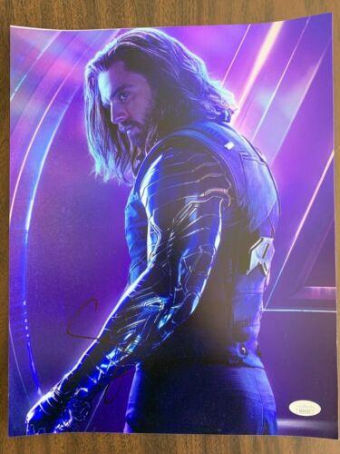 Avengers Infinity War Sebastian Stan Autographed Signed 11x14 Photo JSA COA #1