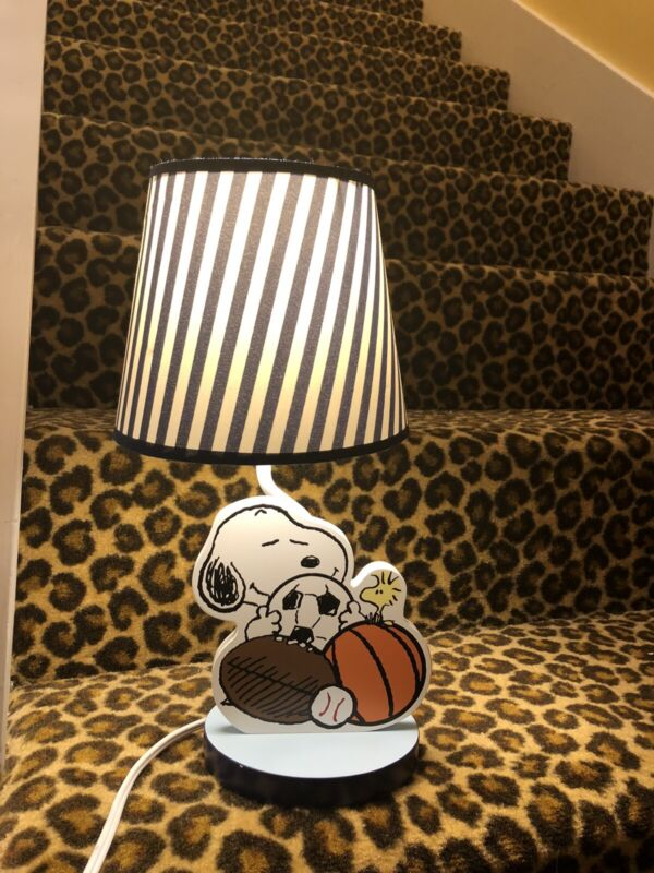 Lambs And Ivy Snoopy Sports Theme Lamp