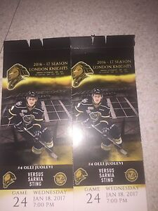 Two tickets for tonight's game