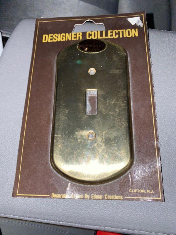 Edmar Creations Brass Light Switch Plate