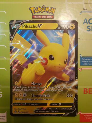 Pikachu V SWSH061 Shining Fates Jumbo Ultra Rare Pokemon Card MINT - $2.25