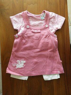 3/4-kleid (NEU Set 3 Teile Shirt + Leggingen 3/4 + Kleid Gr. 62 Sommer Mädchen Bob der Bär)