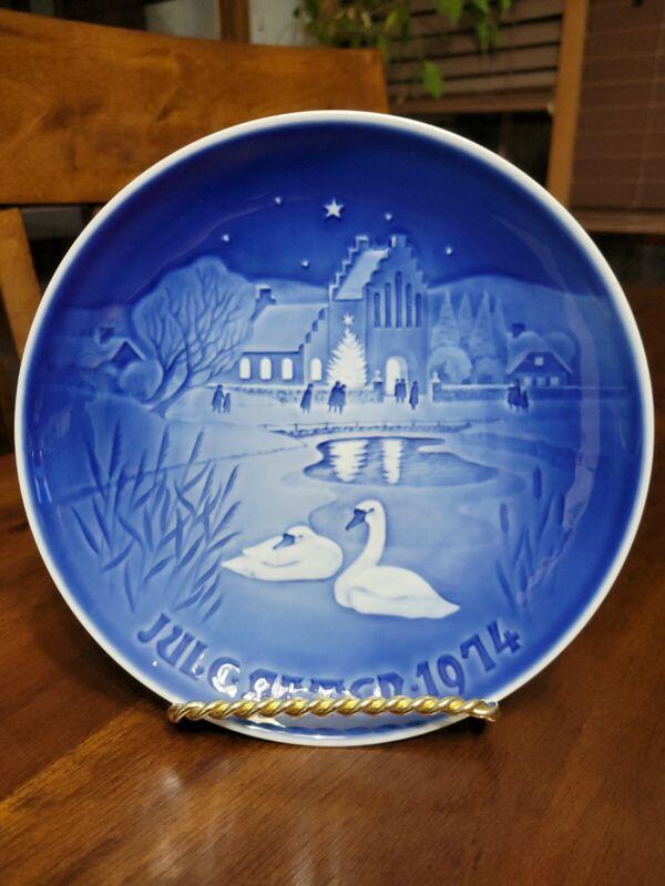 Vintage Bing And Grondahl 1974 Christmas Plate