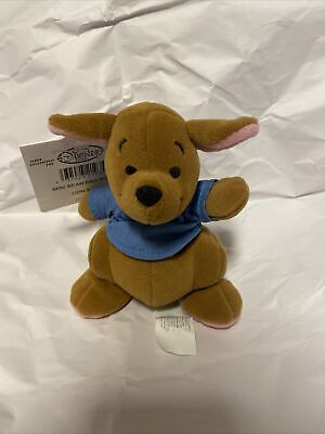 "The Disney Store Roo Kangaroo Mini Bean Bag Plush Winnie the Pooh 7"" Vintage NEW"