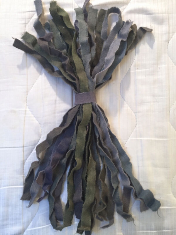 Bundled Hand-Dyed Wool Selvedges for Crafts, Prodding, Braiding Rugs #7