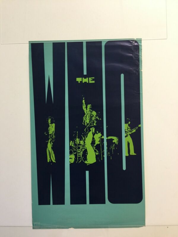 THE WHO Decca/MCA Vintage Original Promotional Poster