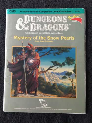 CM5 MYSTERY OF THE SNOW PEARLS 1985 DUNGEONS & DRAGONS ADVENTURE TSR